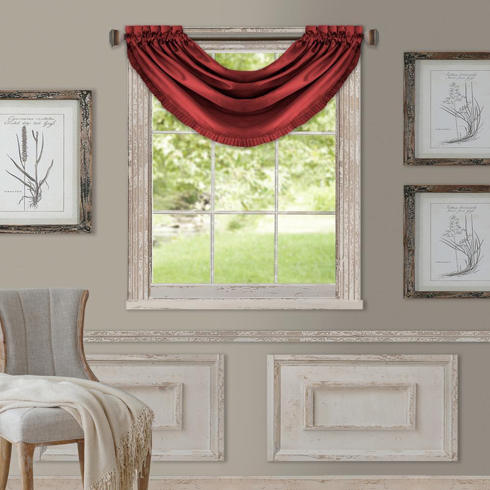Elrene Versailles Faux Silk Blackout Window Valance