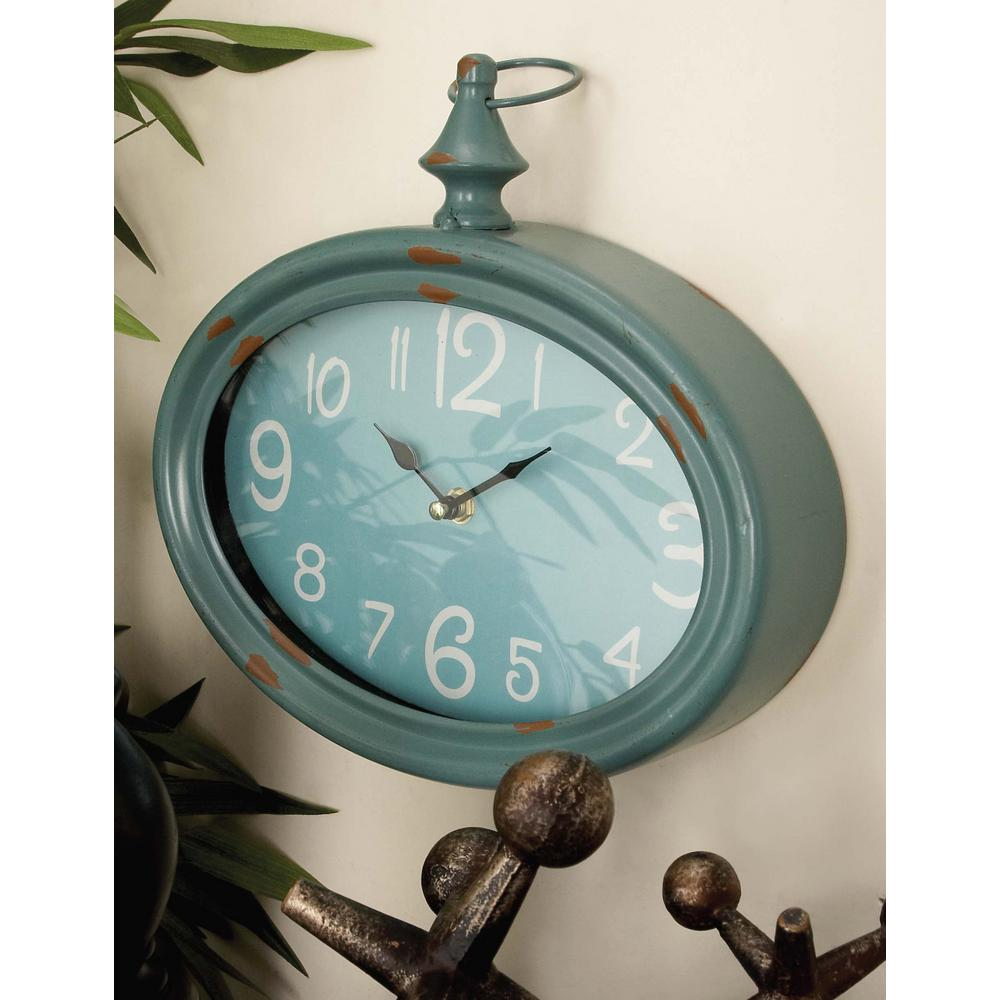 Vintage oval wall clocks set of