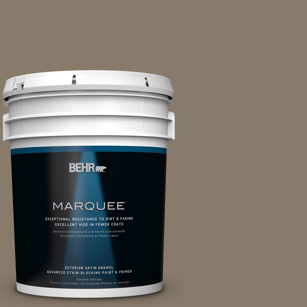 BEHR MARQUEE 5-gal. #PPU7-24 Native Soil Satin Enamel Exterior Paint