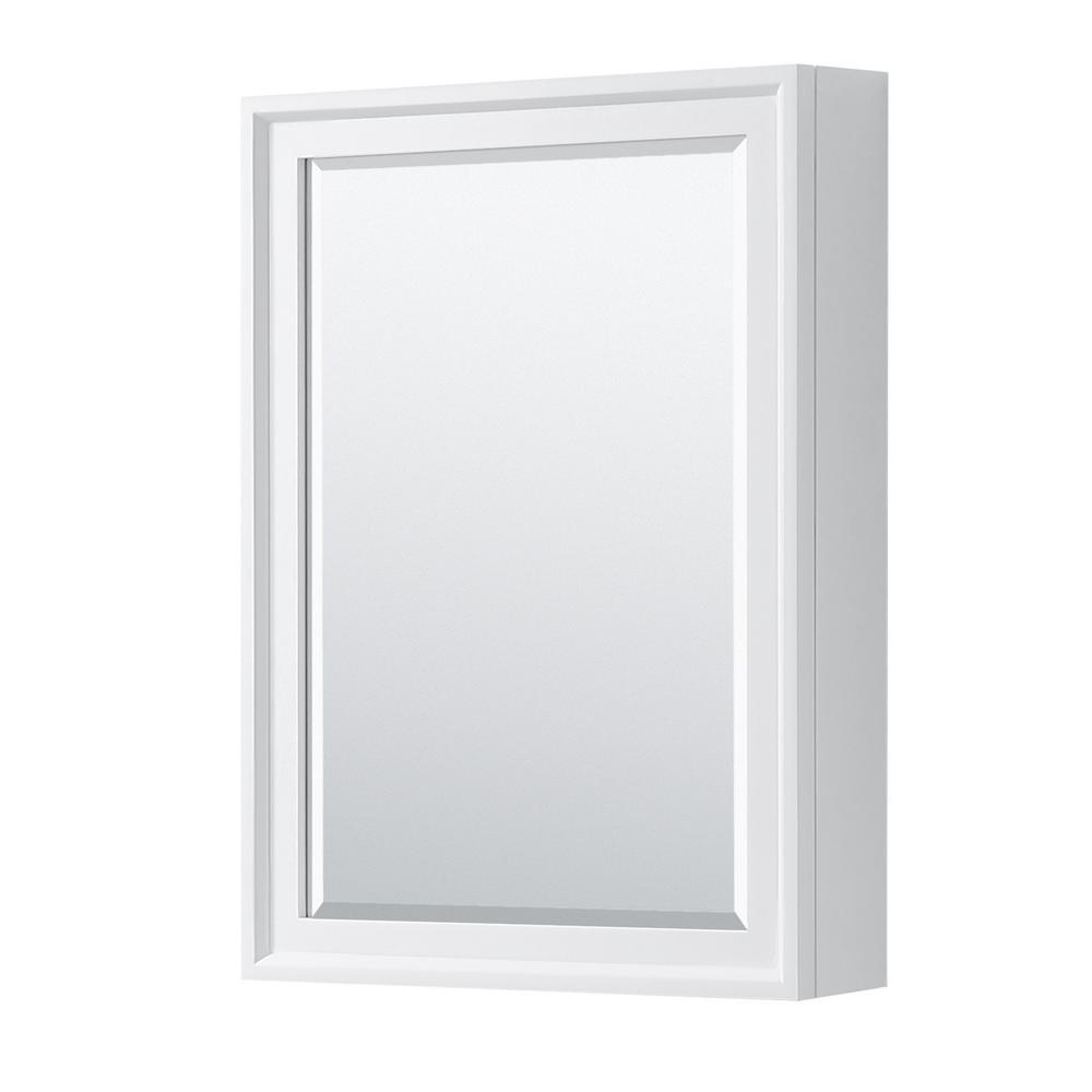 Tamara 24 in. W x 33 in. H Framed Wall Mirror in White