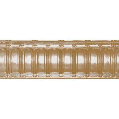 6 in. x 4 ft. x 6 in. Satin Brass Nail-up/Direct Application Tin Ceiling Cornice (6-Pack)