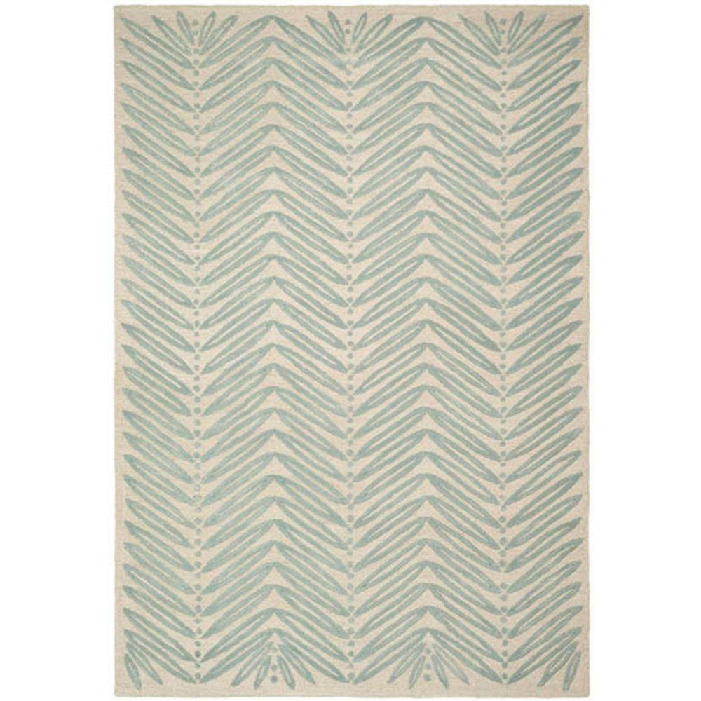 Safavieh Martha Chevron Leaves Blue Fir 8 Ft X 10 Area Rug