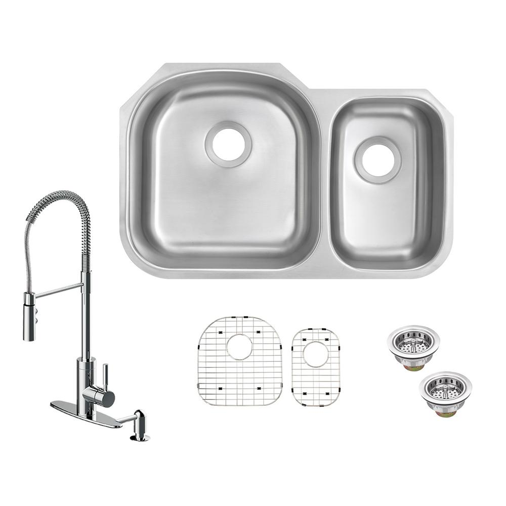 Kitchen Sink Keeps Backing Up: Glacier Bay All-in-One Undermount 16-Gauge Stainless Steel