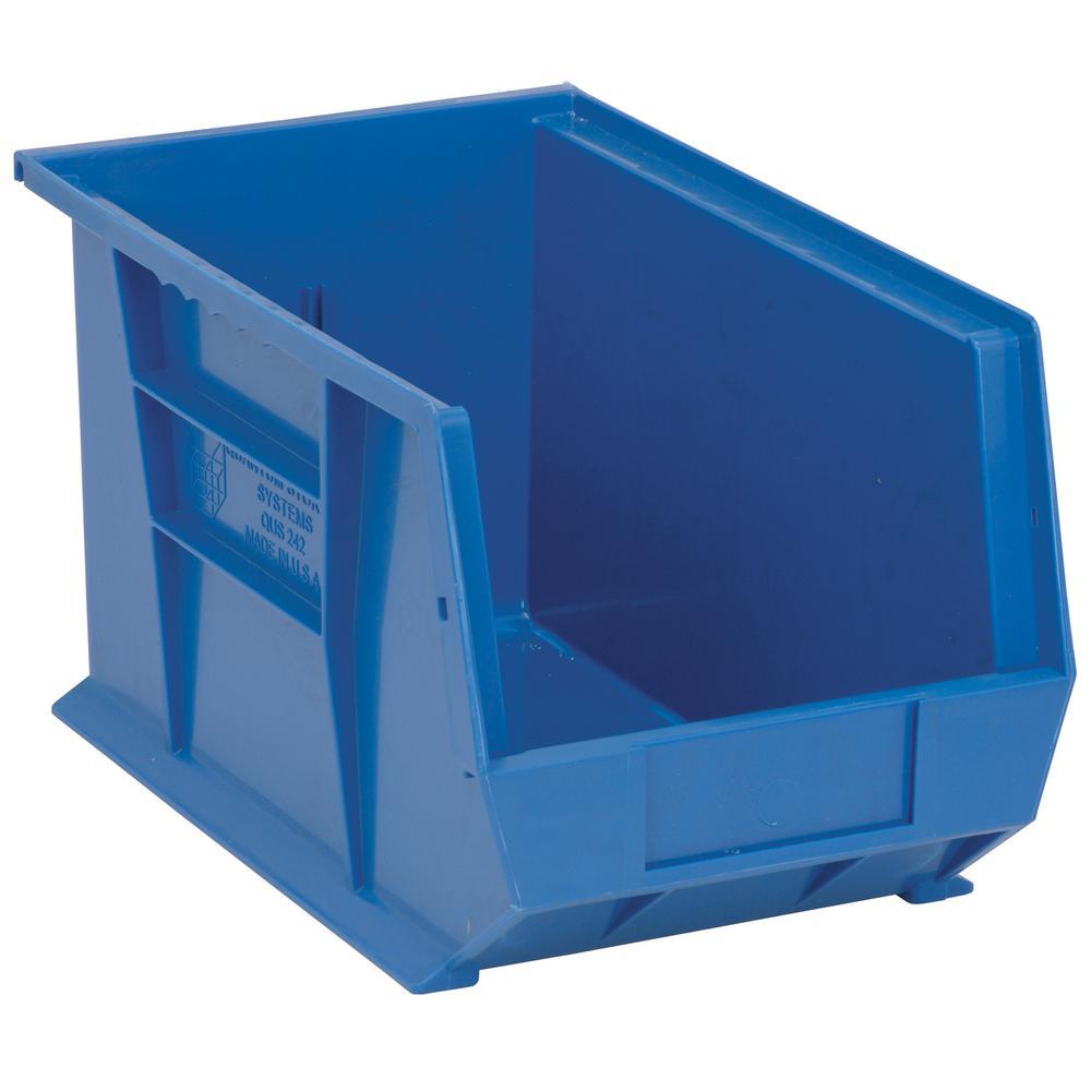 7 Gal. Ultra-Series Stack and Hang Storage Bin, Blue (12-Pack)