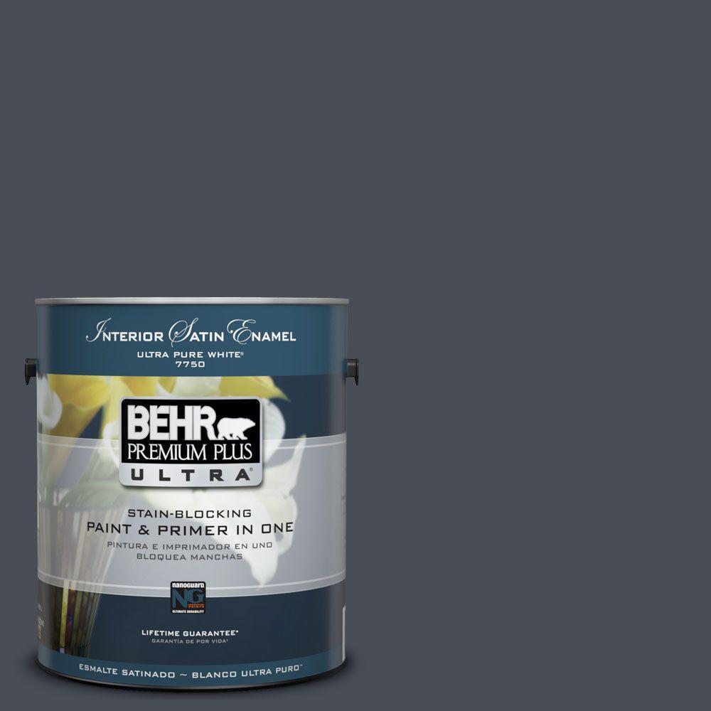 BEHR Premium Plus Ultra 1-Gal. #UL260-23 Poppy Seed Interior Satin Enamel Paint