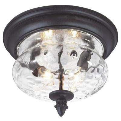 Ardmore 2-Light Black Outdoor Flushmount