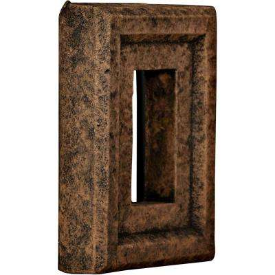 2 in. x 6-1/4 in. x 8-1/4 in. Java Urethane Universal Electrical Outlet for Stone and Rock Wall Panels