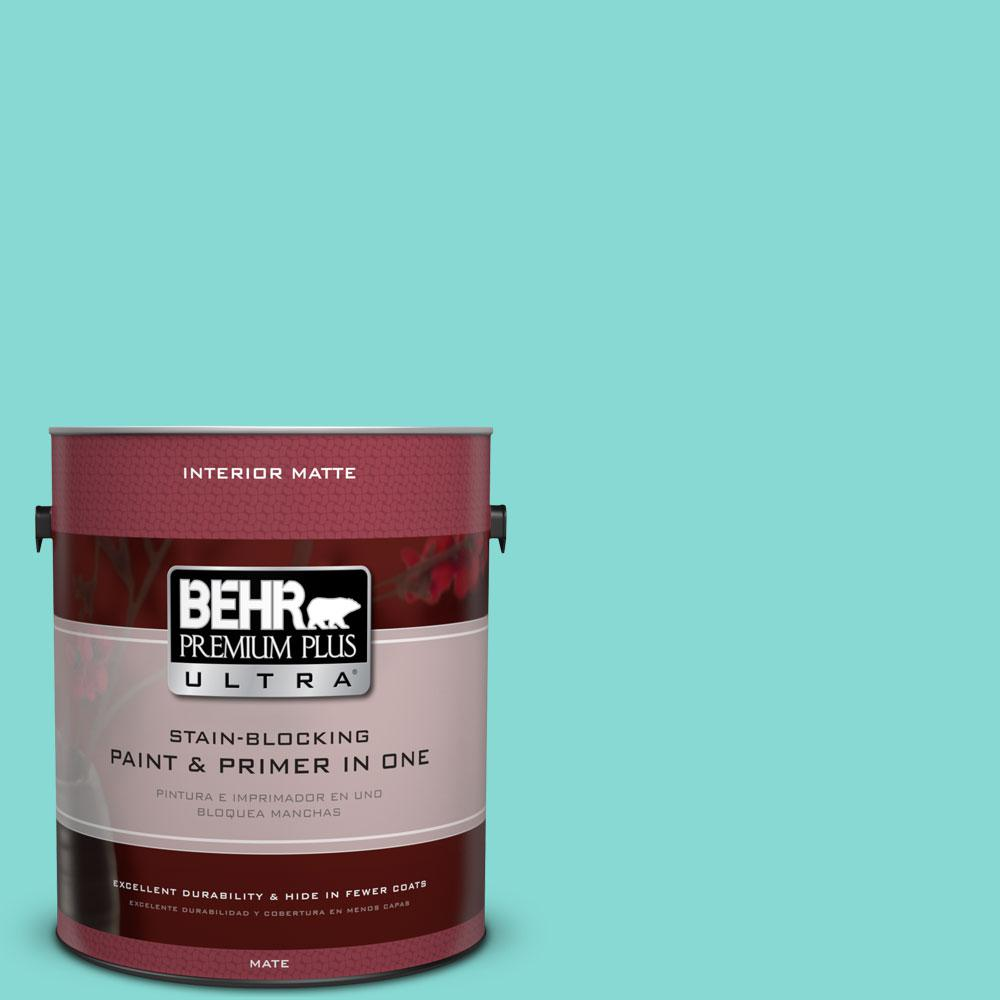 1 gal. #P450-3 Rainwater Matte Interior Paint