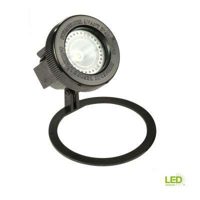 Low-Voltage Black Outdoor Integrated LED Submersible Pond Light