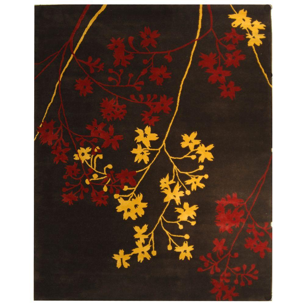 Soho Brown/Red 8 ft. 3 in. x 11 ft. Area Rug
