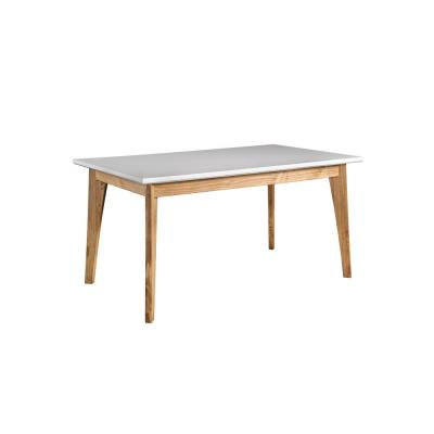 Jackie White and Natural Wood 6-Seat Dining Table