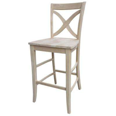 International Concepts Vinyard 24 In Unfinished Wood Bar Stool S 142 The Home Depot