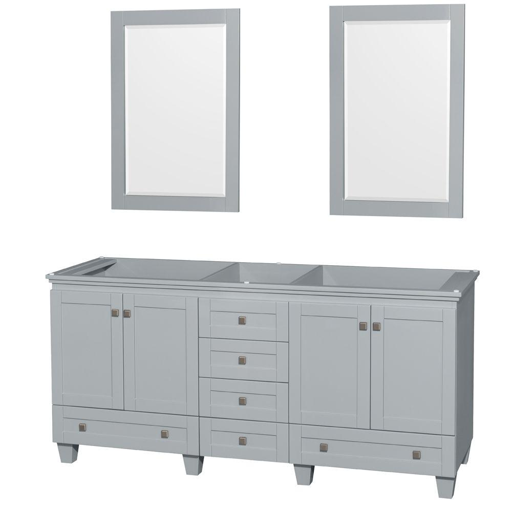 Design House Concord 72 in. W x 21 in. D Unassembled Vanity Cabinet ...