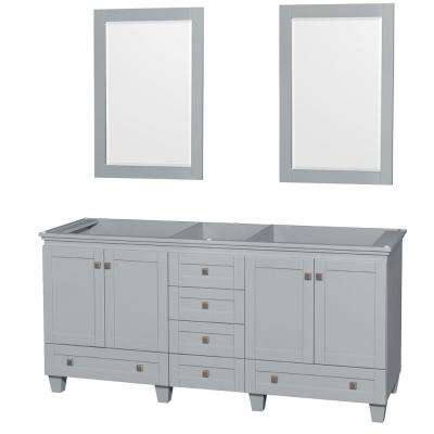 Acclaim 72 in. Vanity Cabinet with Mirror in Oyster Gray