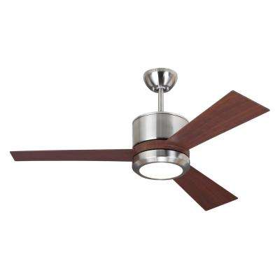 Vision II 42 in. LED Indoor Brushed Steel Ceiling Fan