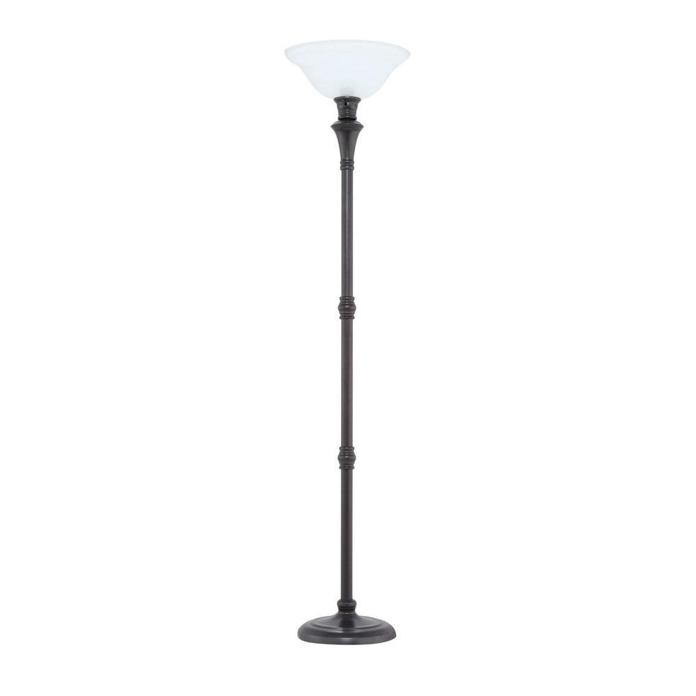 Hampton Bay 72 75 In Bronze Floor Lamp