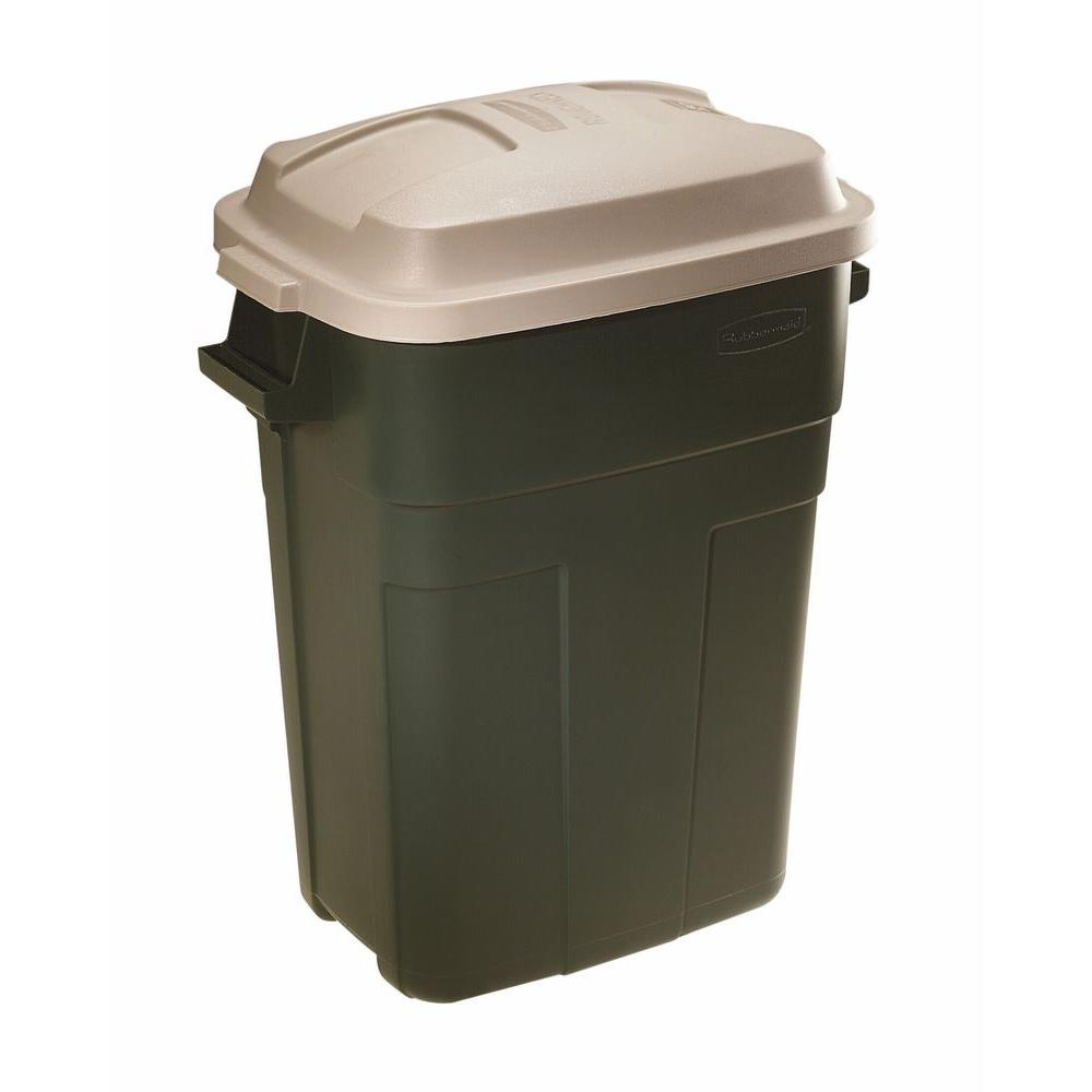 Rubbermaid Roughneck 30 Gal. Evergreen Trash Can