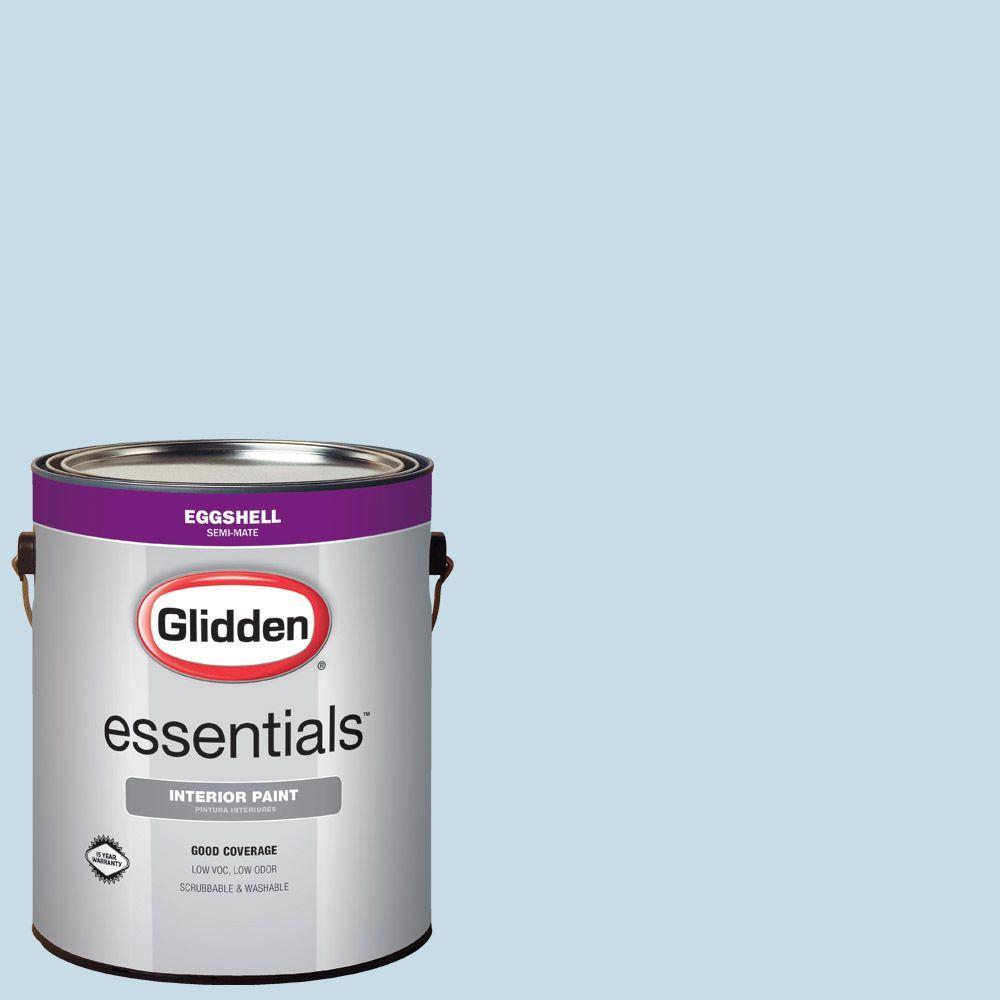7fdd3b8ffd7 Glidden Essentials 1 gal.  HDGV06U Everclear Blue Eggshell Interior ...