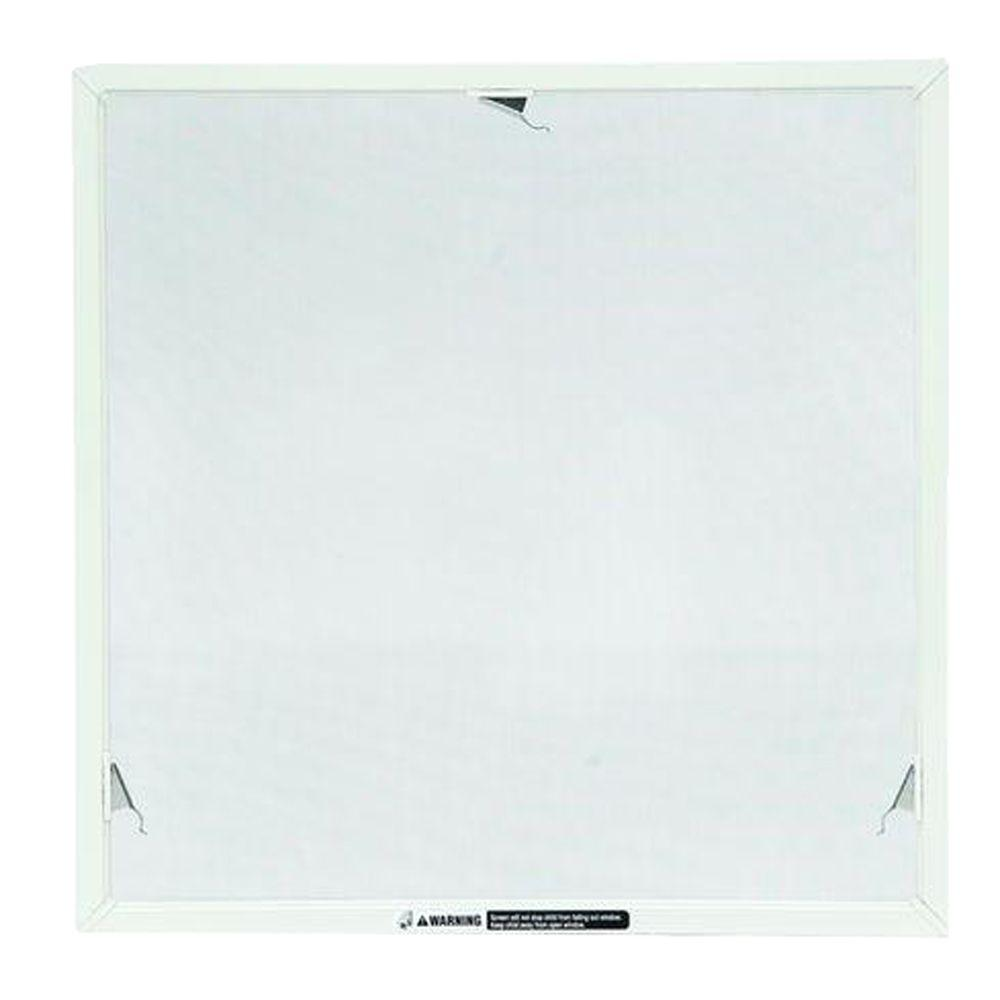 TruScene 20-5/32 in. x 20-5/32 in. White Awning Insect Screen