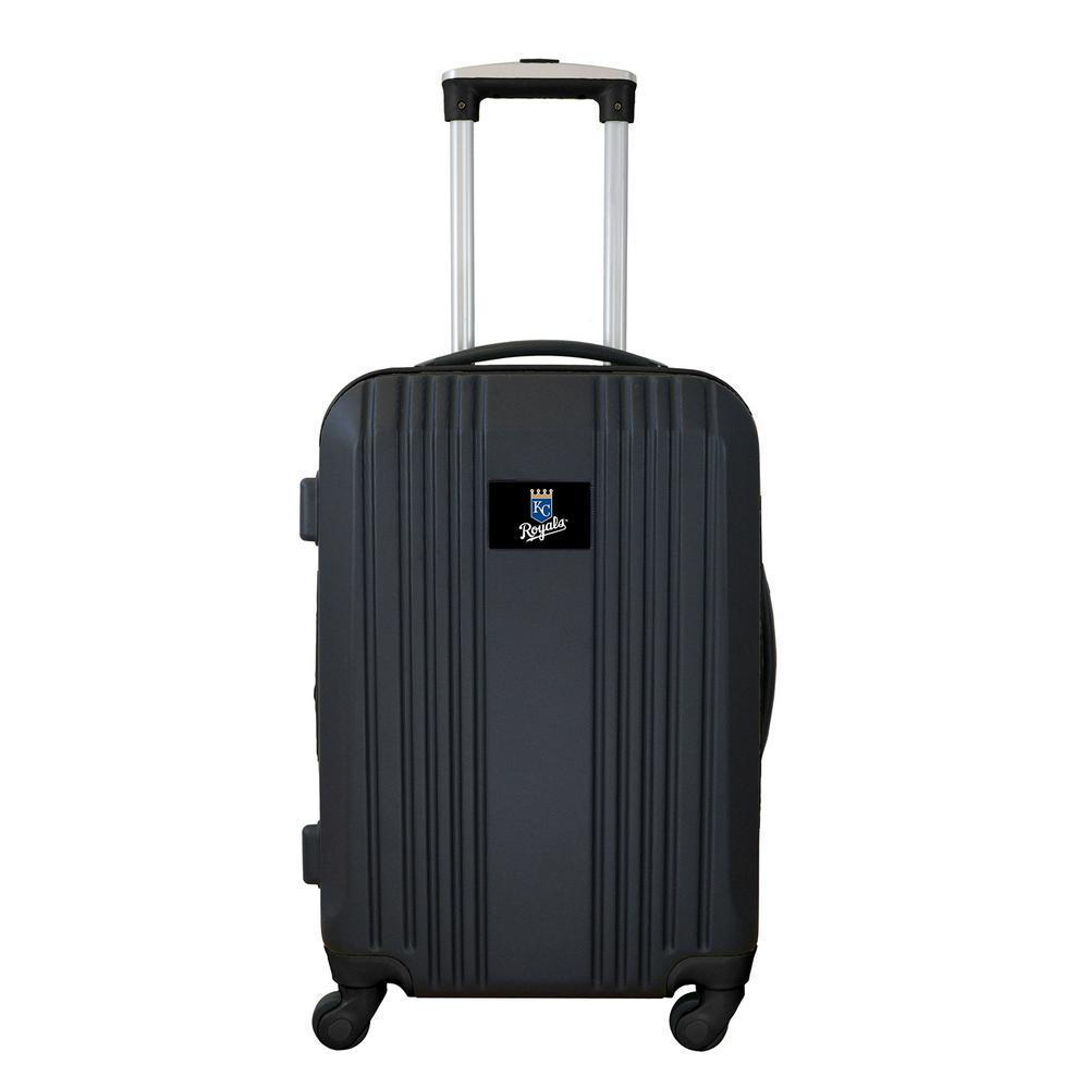 MLB Kansas City Royals 21 in. Navy Hardcase 2-Tone Luggage Carry-On Spinner Suitcase