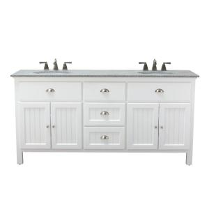 Home Decorators Collection Ridgemore 71 inch W x 22 inch D Double Bath Vanity in White... by Home Decorators Collection