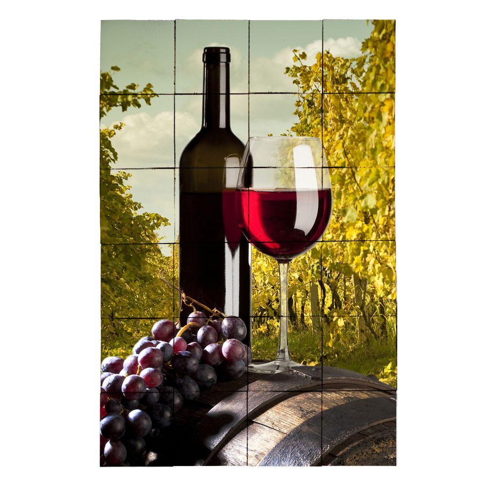 Tile My Style Wine2 24 in. x 36 in. Tumbled Marble Tiles (6 sq. ft. /case)