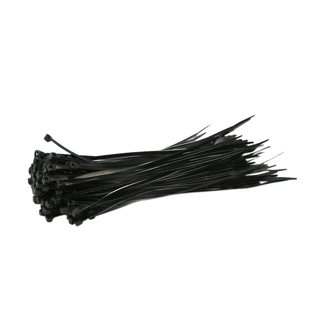 8 In. Black Nylon Cable Zip Ties (500-Piece per Bag)