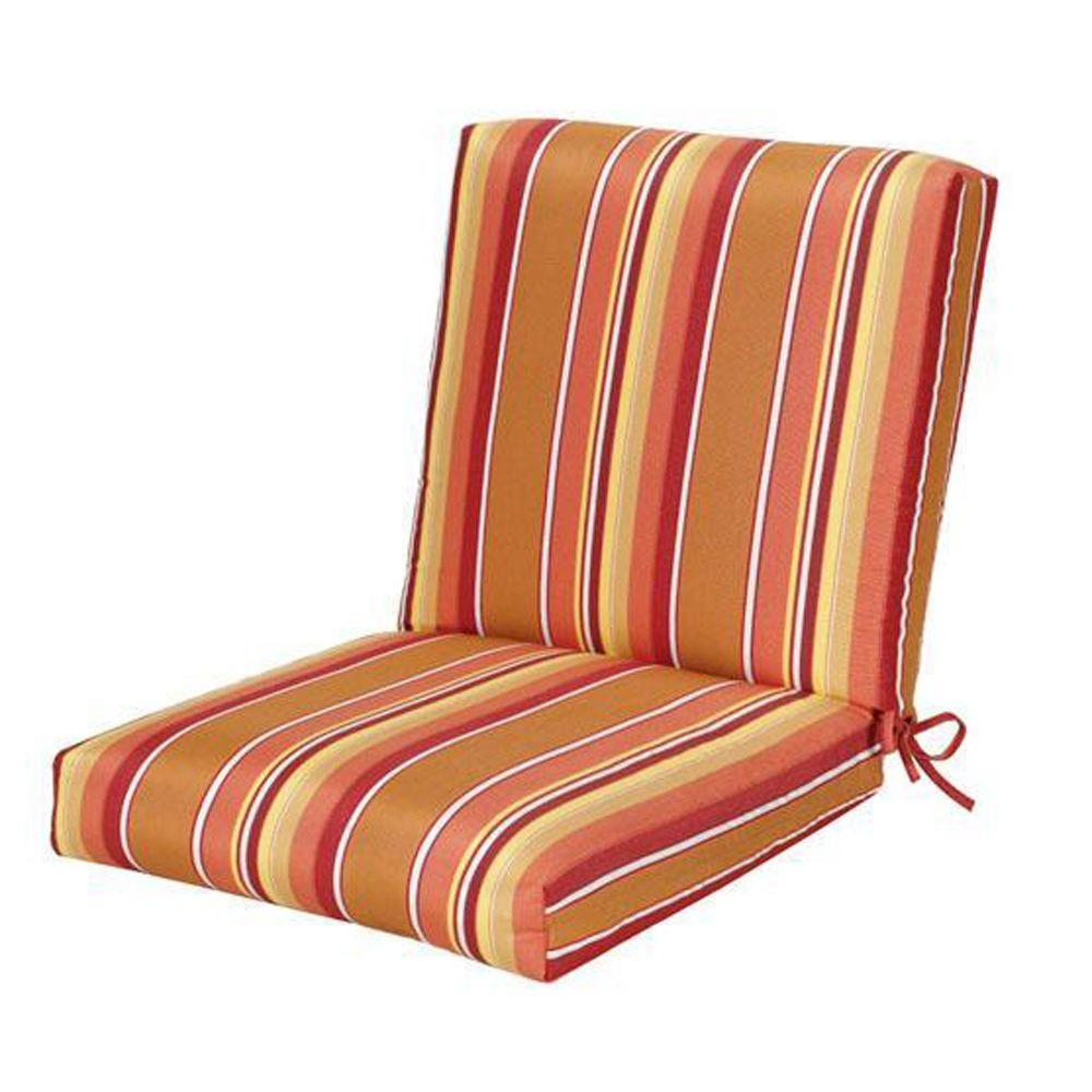 Home Decorators Collection Sunbrella Dolce Mango Outdoor Dining Chair Cushion