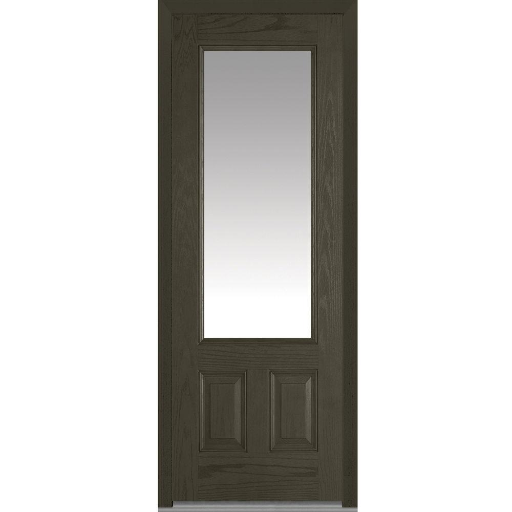 36 X 96 Dark Brown Wood Front Doors Exterior Doors The Home