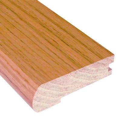 Natural Oak 3/8 in. Thick x 2.375 in. Wide x 78 in. Length Hardwood Flush-Mount Stair Nose Molding