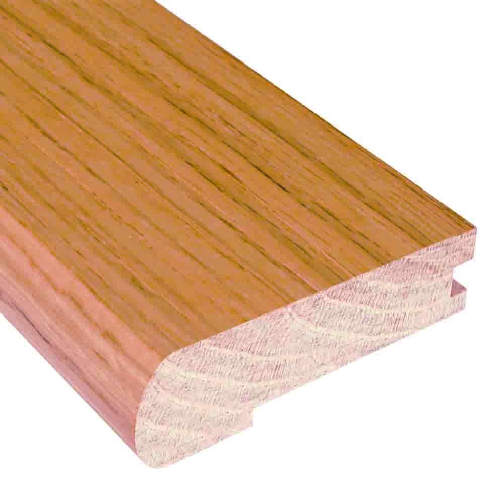 Millstead Unfinished Oak 0.81 in. Thick x 2-3/4 in. Wide x 78 in. Length Hardwood Flush-Mount Stair Nose Molding