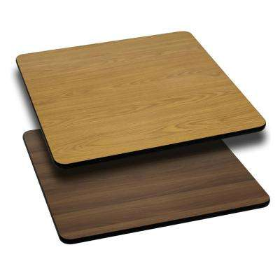 30 in. Square Table Top with Natural or Walnut Reversible Laminate Top