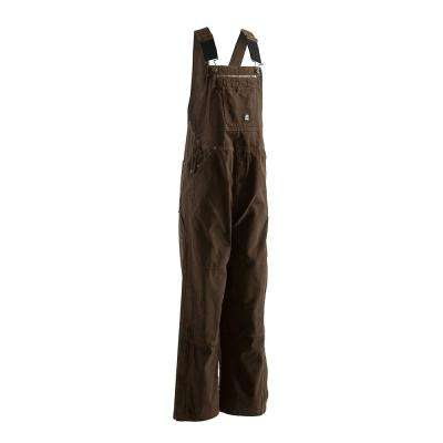 Men's 42 in. x 36 in. Bark 100% Cotton Unlined Washed Duck Bib Overall