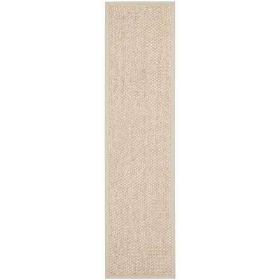 Natural Fiber Marble 3 ft. x 10 ft. Runner Rug