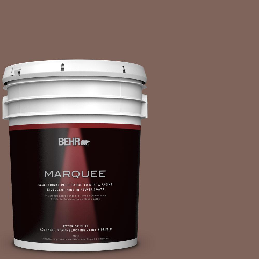 BEHR MARQUEE 5-gal. #BNC-23 Almond Truffle Flat Exterior Paint
