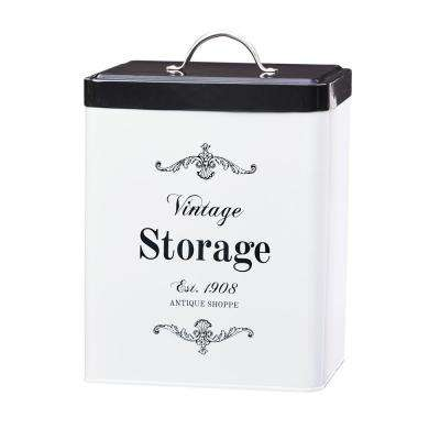 Antique Shoppe 208 oz. Metal Storage Canister with Rectangular Shape