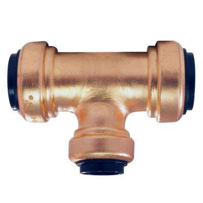 3/4 in. x 3/4 in. x 1/2 in. Copper Push-to-Connect Reducer Tee