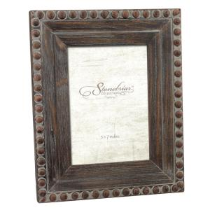 Stonebriar Collection 1-Opening 5 inch x 7 inch Rustic Wood With Rivet Detail Picture... by Stonebriar Collection