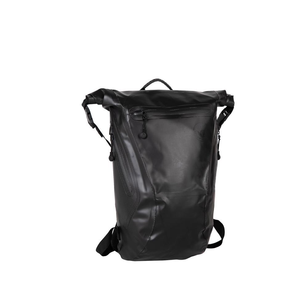 Body Glove Advenire Waterproof 6 in. Black Vertical Roll-Top  Backpack-BG146-593-BLK - The Home Depot 045bacf4cb8f6