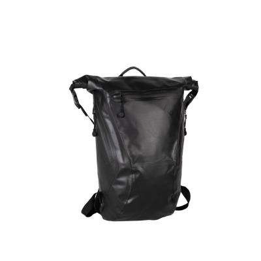 Advenire Waterproof 6 in. Black Vertical Roll-Top Backpack