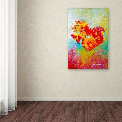 "24 in. x 16 in. ""Felt IX"" by Marion Rose Printed Canvas Wall Art"