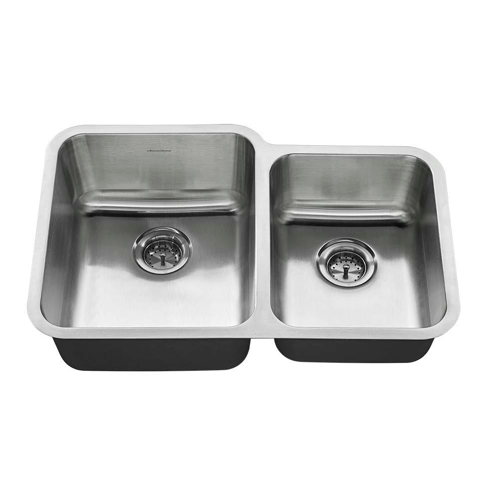 All-in-One Undermount Stainless Steel 31 in. 0-Hole Double Bowl Kitchen Sink