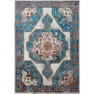 Parlin Nora Ivory/Blue 9 ft. 2 in. x 12 ft. 5 in. Indoor Area Rug