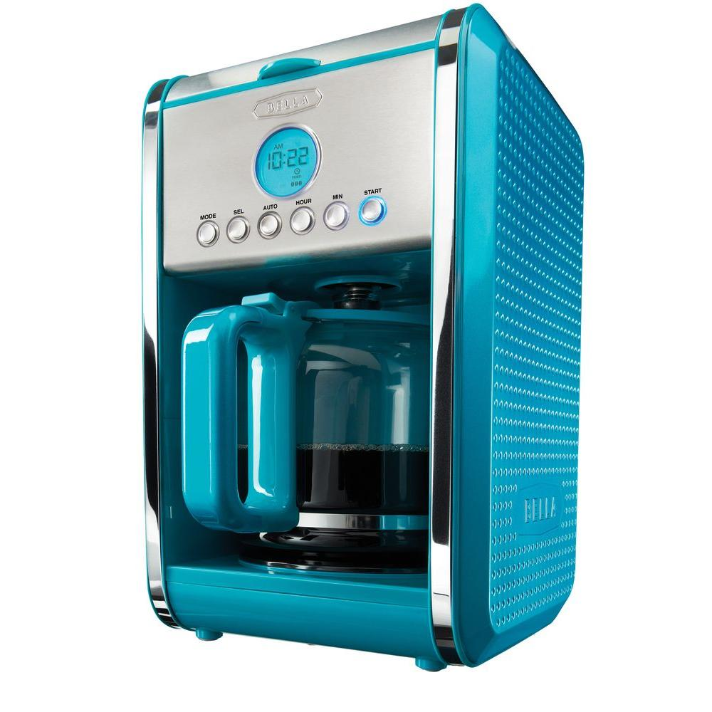 Bella Dots Programmable 12-Cup Coffee Maker in Teal
