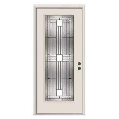 compressed decorative jeld glass windows exterior lite with b in sidelites prehung depot the primed full n wen home steel kingston door front doors