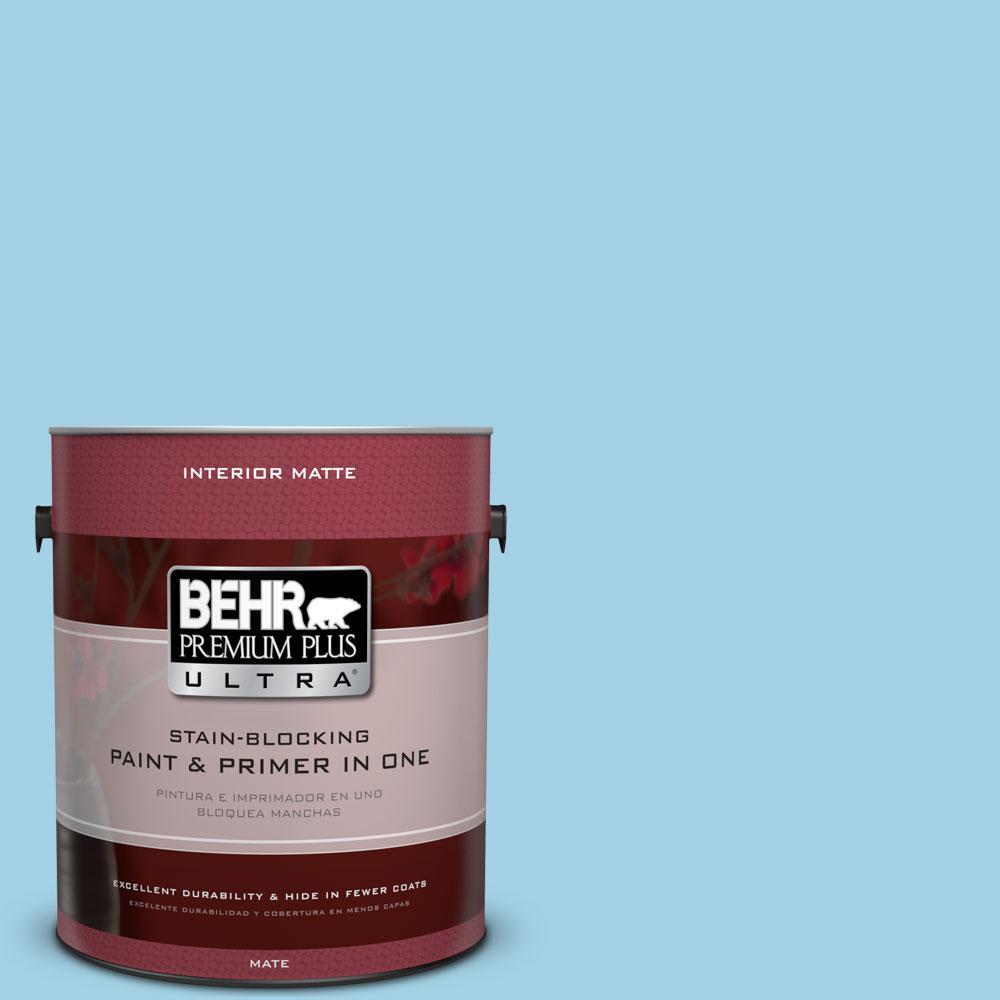 BEHR Premium Plus Ultra 1 gal. #540C-3 Sea Rover Flat/Matte Interior Paint