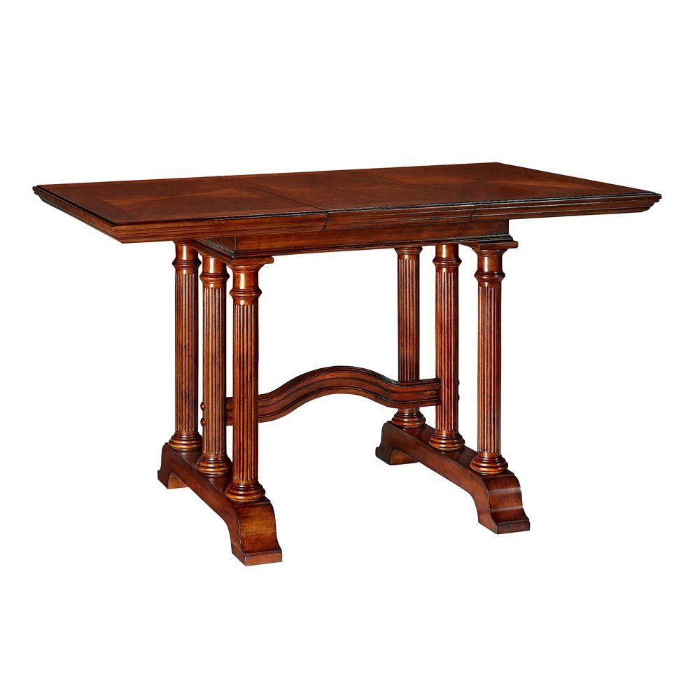 Home Decorators Collection Francis Dark Cherry Dining Table with Leaf