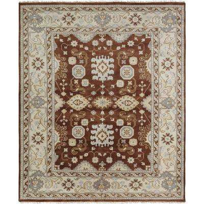 Umbria Brown/Camel 8 ft. x 10 ft. Area Rug