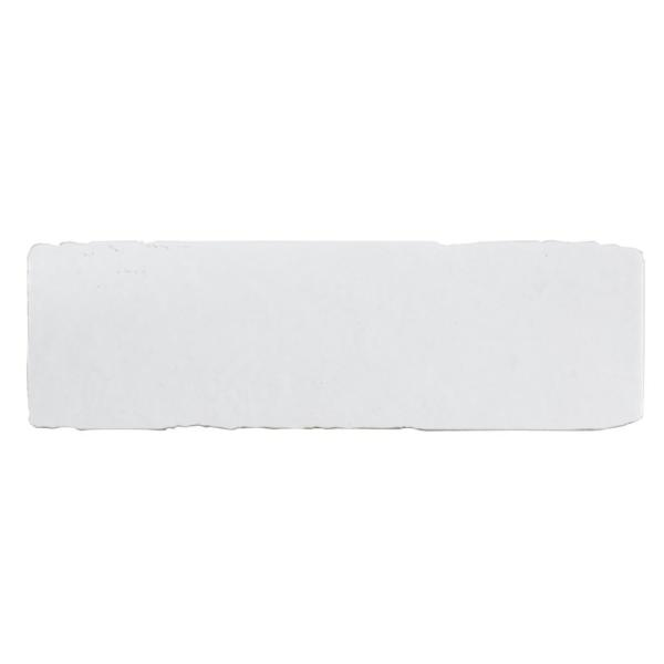 Chalk Brick White 3 in. x 10 in. Matte Textured Porcelain Wall and Floor Tile (8.8 sq. ft. / Case)