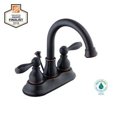 Mandouri 4 in. Centerset 2-Handle High-Arc Bathroom Faucet in Bronze
